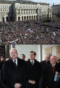 Demonštrácie v Budapešti